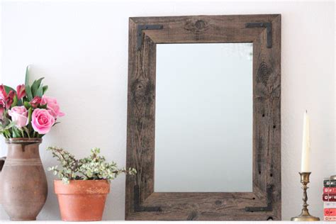 wood mirror bathroom reclaimed wood mirror 18x24 bathroom mirror wood mirror