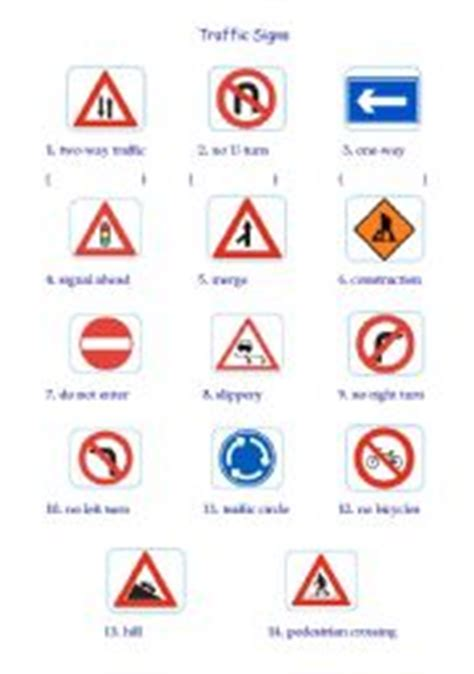 printable road signs worksheets 8 best images of traffic safety bingo printable traffic