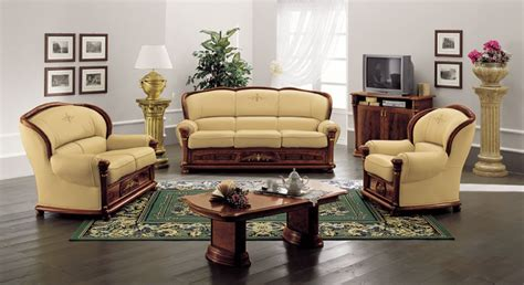 klassica classic italian leather sofa set