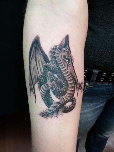dragon forearm tattoo small gargoyle tattoos gargoyle done on my