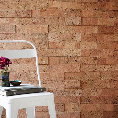 how to stick something to a wall peel and stick cork tiles from west elm 280 for 20 sq