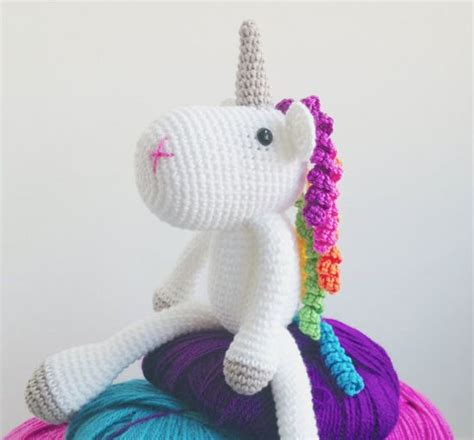 knitted unicorn etsy find of the day knitted unicorn plush shops