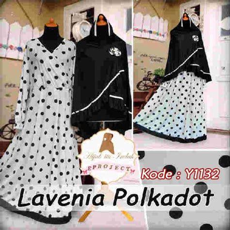 Maxi Kartika Syari baju gamis bergo lavenia polka y1132 busana muslim syari