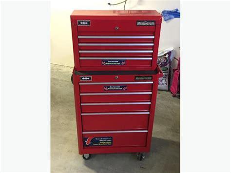 mastercraft tool chest drawer organizer like new 9 drawer mastercraft tool chest and cabinet