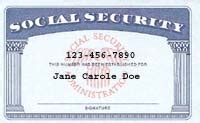 real social security card template surveillance