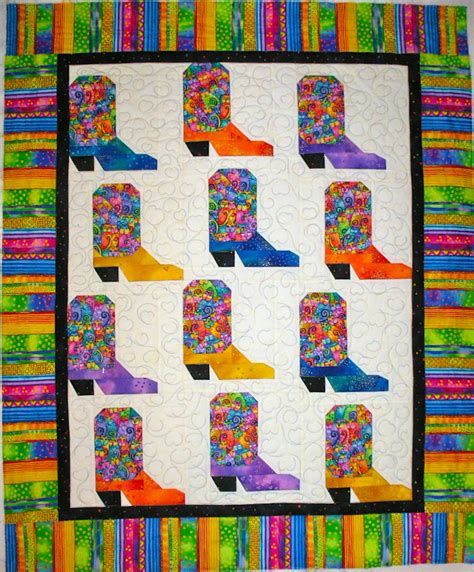 Cowboy Boot Quilt Pattern by S Quiltmania Cowboy Boot Baby Quilt