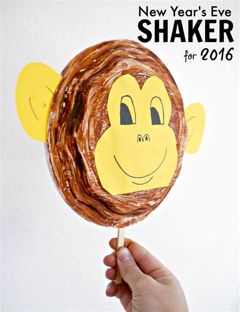 new year cooking preschool monkey plate shaker for new year s make and takes