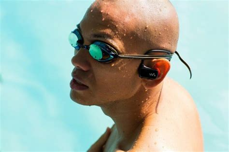 mp player you can swim with sony debuts waterproof walkman mp3 player built into