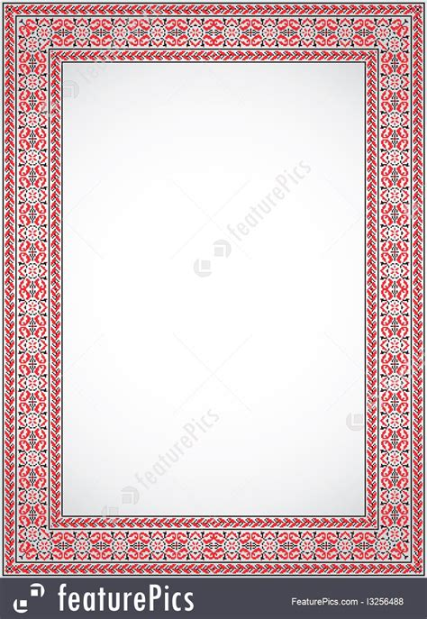 ukrainian cross stitch ornament frame illustration