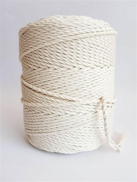 Rope Macrame - 4 mm cotton rope 1 5kg twisted cotton rope macrame rope