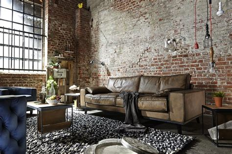 vintage einrichtung wohnzimmer ledersofa dwayne vintage leder 2 5 sitzer im industriestil