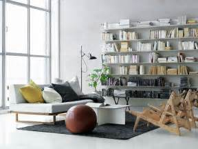 Living Room Bookshelves White Scandinavian Living Room Bookshelves Interior