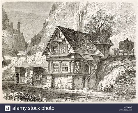 Mittelalter Wohnen by Germany Peasants Historical Stockfotos Germany Peasants