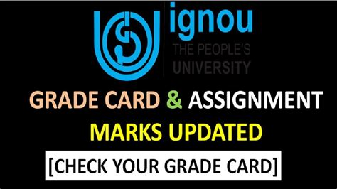 Ignou Mba Result Grade Card by Ignou Grade Card Assignment Marks 2017 Updated Check