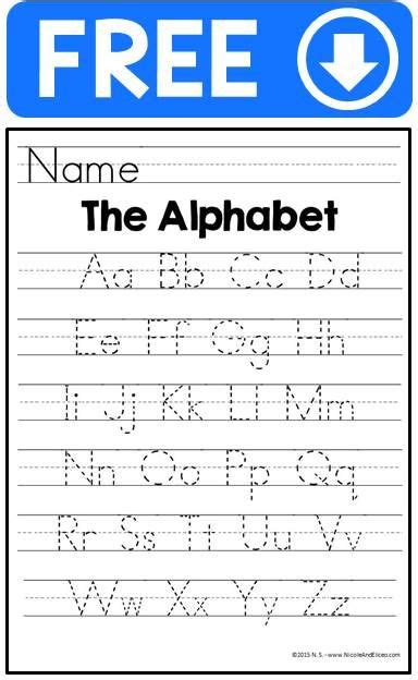 printable alphabet manuscript chart handwriting practice sheets alphabet tracing