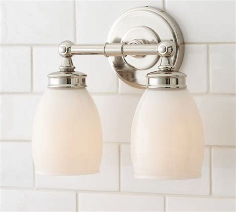 pottery barn bathroom fixtures ashland double sconce modern bathroom vanity lighting
