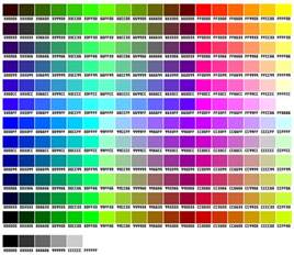css color list 216 kode warna css hexadecimal colour chart d genera
