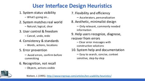 design heuristics meaning challenges of summative usability testing in a community