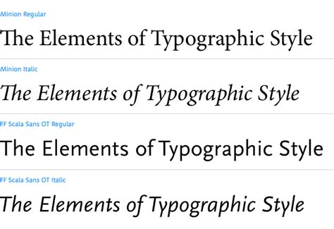 the elements of style 4th edition books font combinations in popular design books