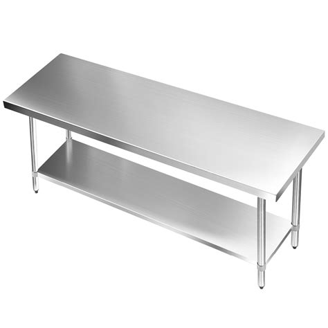 stainless steel kitchen bench 304 stainless steel kitchen work bench table 1829mm