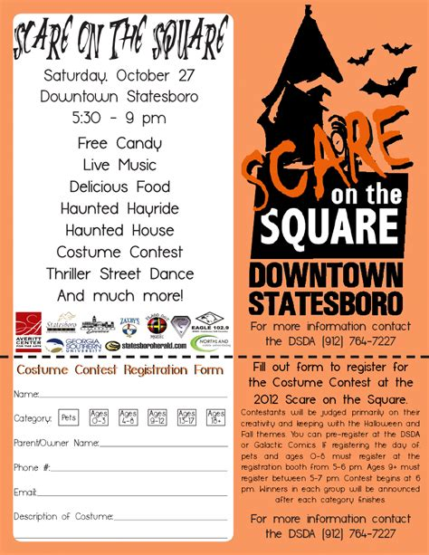 contest sign up scary week downtown statesboro