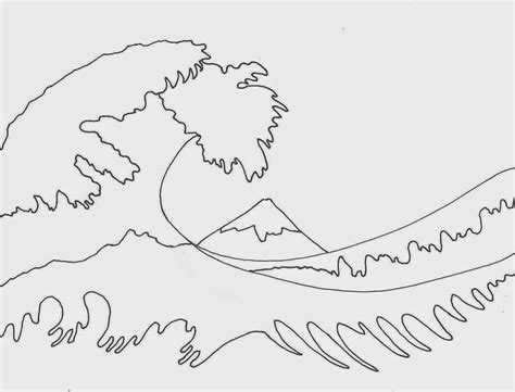 photos wave line drawing drawings gallery