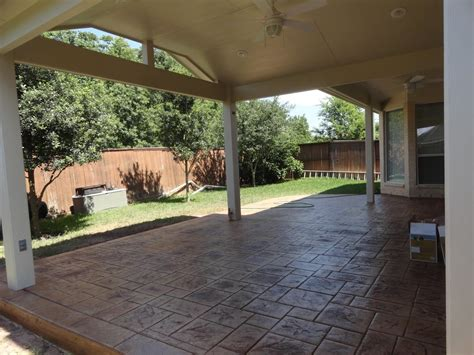 Patio Covers Houston by Complement Your Patio Cover With Sted Concrete
