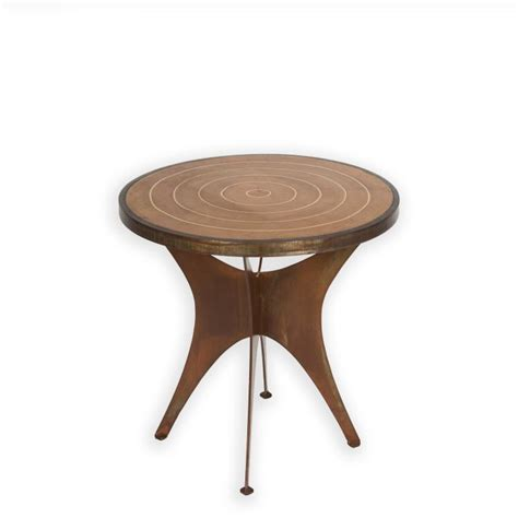 tree section table designer iron cement tree cross section table