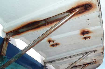 boat swim platform handrails boat rust and corrosion boatus magazine