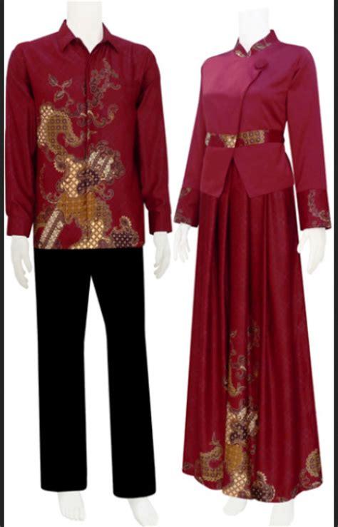 Baju Muslim Batik Kombinasi Polos model baju gamis batik kombinasi polos