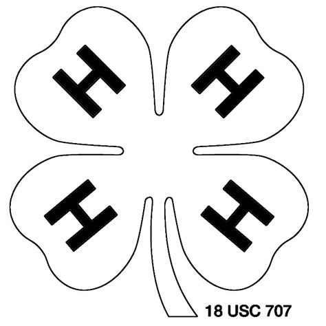 4 H Clover Coloring Pages by A 4h Clover Colouring Pages