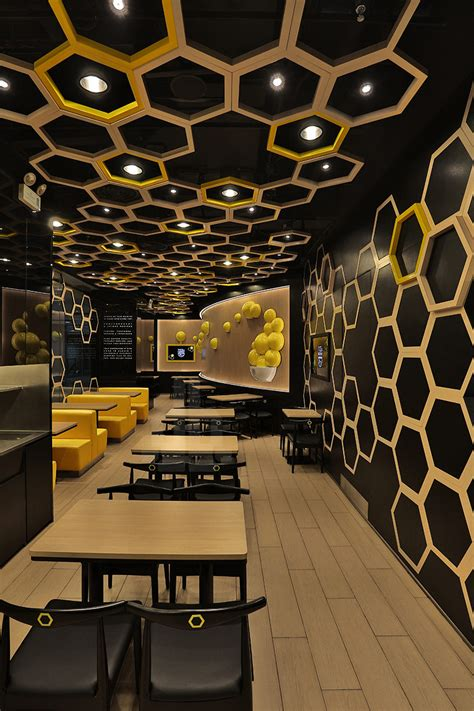 design wall cafe restaurants with striking ceiling designs