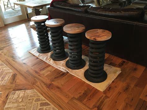 Modern Farmhouse Dining Room buy custom truck coil spring bar stools made to order