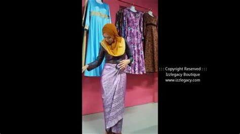 Sarung Tenun Songket Warna 16 how to wear songket pareo with buckle