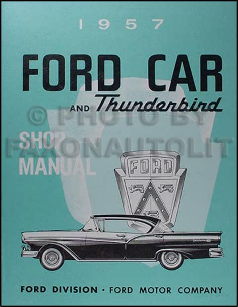 free service manuals online 1958 ford thunderbird interior lighting the nifty fifties ford 1946 1959 year by year history