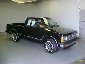1992 midnight black chevrolet s10 regular cab 27625882