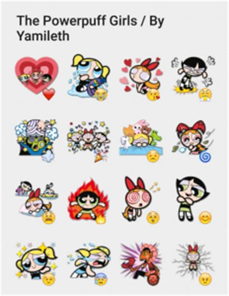 Sticker Stiker Label Nama The Powerpuff Power Puff the powerpuff by yamileth telegram sticker set stickers