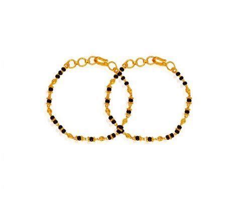 black bangles for baby 22k black baby bracelet ajkb61159 22k gold baby