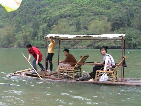 bamboo boat li river bamboo boat trip and hike in yangshou china