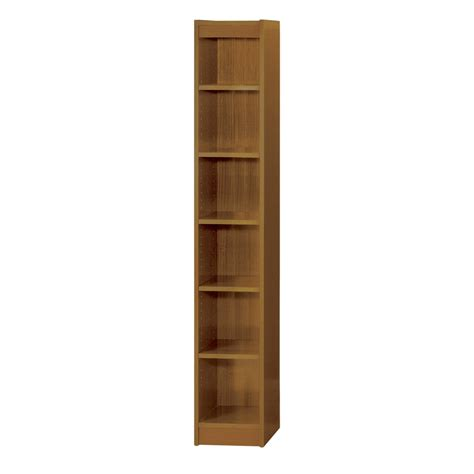 safco 6 shelf veneer baby bookcase 24 inch w medium oak
