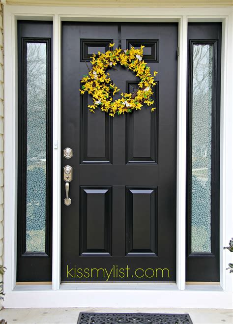 black front door painting the front door another diy fail kiss my list