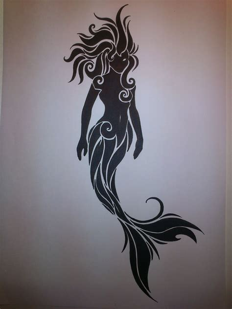 silhouette tattoos the gallery for gt mermaid silhouette