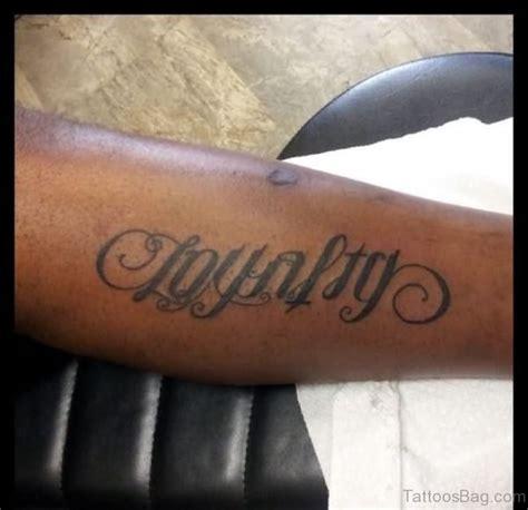 loyalty tattoos on arm 50 ambigram tattoos on arm