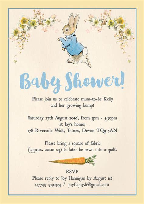 Rabbit Baby Shower Invitations Uk by Rabbit Baby Shower Invitation From 163 0 80 Each