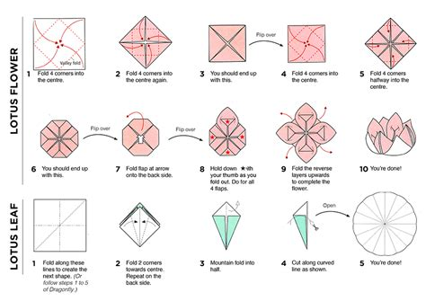 How To Make A Lotus Origami - lotus flower napkin fold step by step speyeder net