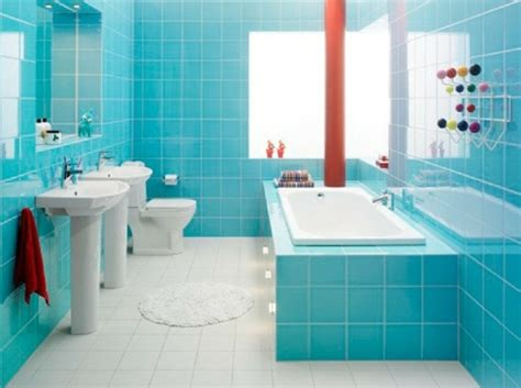 baby blaues badezimmer peinture carrelage astuces et conseils