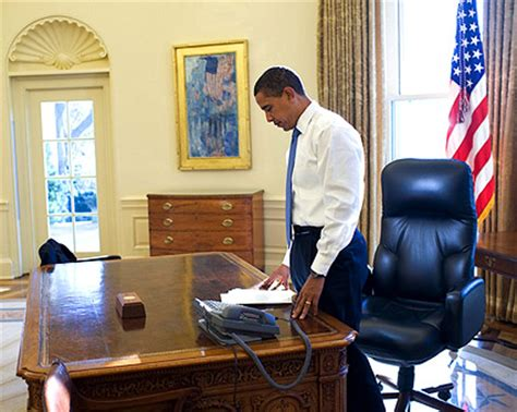 Obama Day In Office by President Obama Day In Oval Office Photo Print For Sale