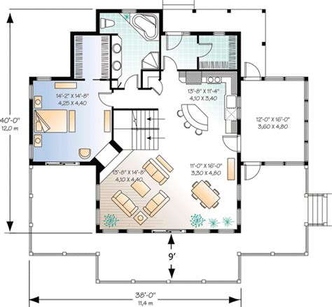 vacation cottage floor plans 4 season vacation house plan