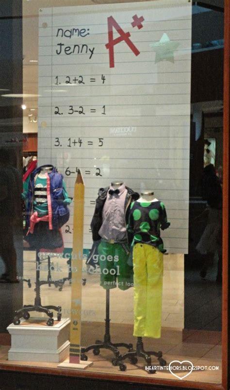 store display themes back to school window displays window display ideas