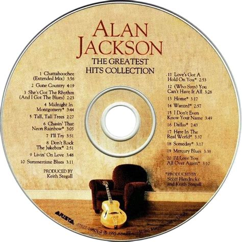 car 225 tula cd de alan jackson the greatest hits collection